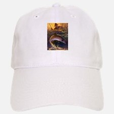 Vintage Fish, Fisherman Fishing Baseball Baseball Cap