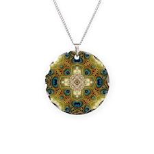 Peacock Glow Cross Necklace