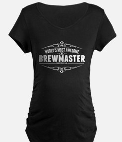 Worlds Most Awesome Brewmaster Maternity T-Shirt