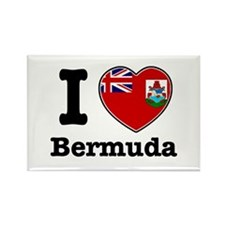 I love Bermuda Rectangle Magnet