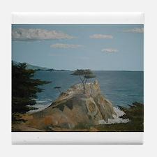 Lone Cypress Tile Coaster