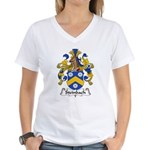 Steinbach Family Crest  Women's V-Neck T-Shirt