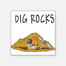 "Unique Geologist Square Sticker 3"" x 3"""
