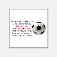 """Unique Soccer Square Sticker 3"""" x 3"""""""