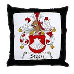 Steen Family Crest Throw Pillow