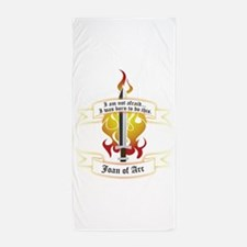 Joan of Arc - I was born to do this. Beach Towel