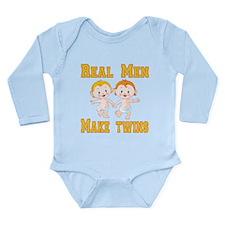 Real Men Make Twins Long Sleeve Infant Bodysuit