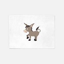 Cartoon Donkey 5'x7'Area Rug