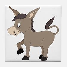 Cartoon Donkey Tile Coaster