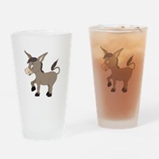 Cartoon Donkey Drinking Glass