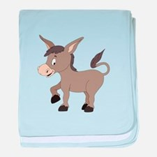 Cartoon Donkey baby blanket