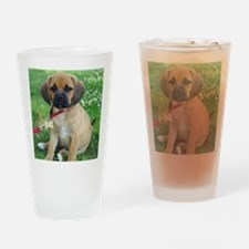 Puggle Drinking Glass