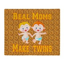 Real Moms Make Twins Throw Blanket