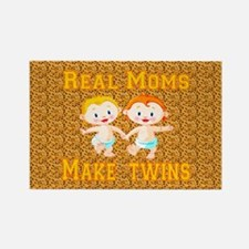 Real Moms Make Twins Rectangle Magnet