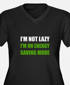 Energy Saving Mode Plus Size T-Shirt
