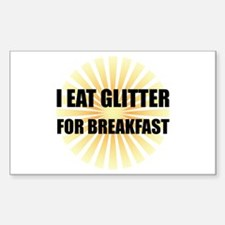 Glitter For Breakfast Decal