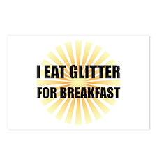 Glitter For Breakfast Postcards (Package of 8)