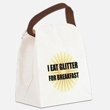 Glitter For Breakfast Canvas Lunch Bag