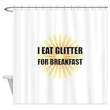 Glitter For Breakfast Shower Curtain