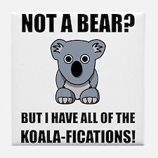 Koala Fications Tile Coaster