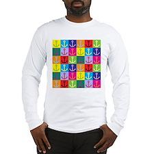 Pop Art Anchor Long Sleeve T-Shirt