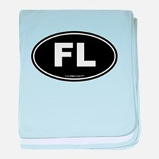 Florida FL Euro Oval baby blanket