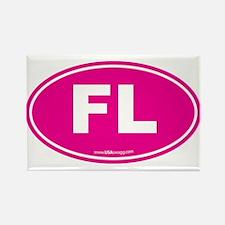 Florida FL Euro Oval Rectangle Magnet