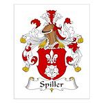 Spiller Family Crest Small Poster