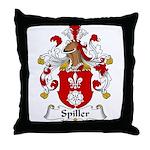 Spiller Family Crest Throw Pillow