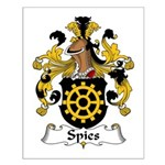 Spies Family Crest Small Poster