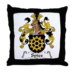 Spies Family Crest Throw Pillow