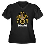 Spies Family Crest Women's Plus Size V-Neck Dark T