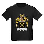 Spiering Family Crest  Kids Dark T-Shirt