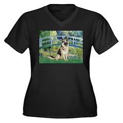 Bridge / G-Shep Women's Plus Size V-Neck Dark T-Sh