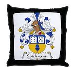 Spielmann Family Crest Throw Pillow