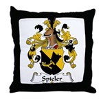 Spieler Family Crest  Throw Pillow