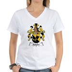 Spieler Family Crest  Women's V-Neck T-Shirt