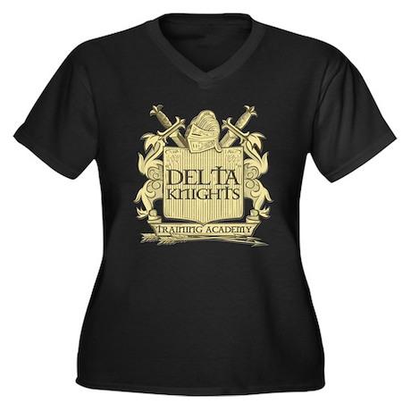 Delta Knights Women's Plus Size V-Neck Dark T-Shir