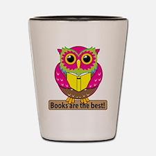 Owls Books Best Shot Glass