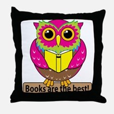 Owls Books Best Throw Pillow