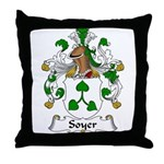 Soyer Family Crest Throw Pillow