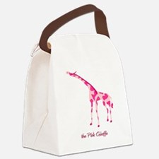the Pink Giraffe Canvas Lunch Bag