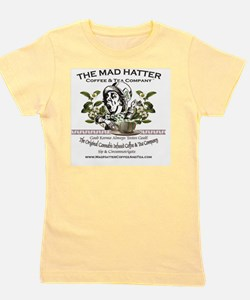 Mad Hatter Coffee and Tea logo with mes Girl's Tee