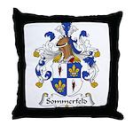 Sommerfeld Family Crest  Throw Pillow