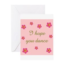 Unique Ballroom dancing Greeting Card