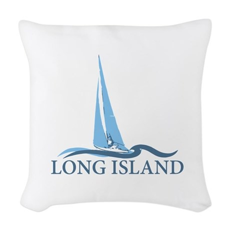 Long island new york woven throw pillow by ivacations for Long throw pillows