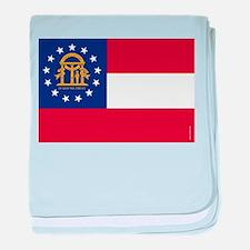 Georgia State Flag baby blanket