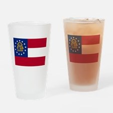 Georgia State Flag Drinking Glass