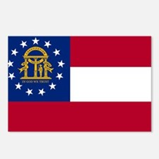 Georgia State Flag Postcards (Package of 8)