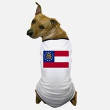 Georgia State Flag Dog T-Shirt